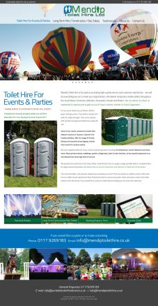 Mendip Toilet Hire Design