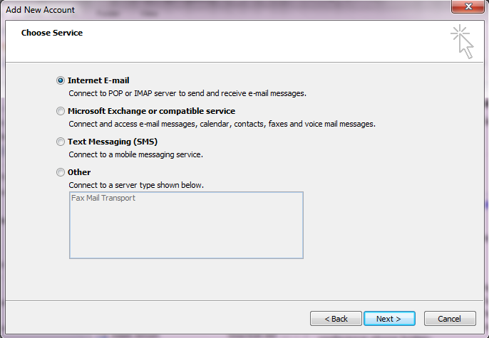 Outlook imap step 4