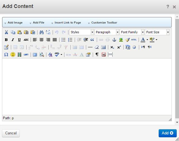 Add content block